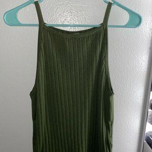 Halter/tank green top